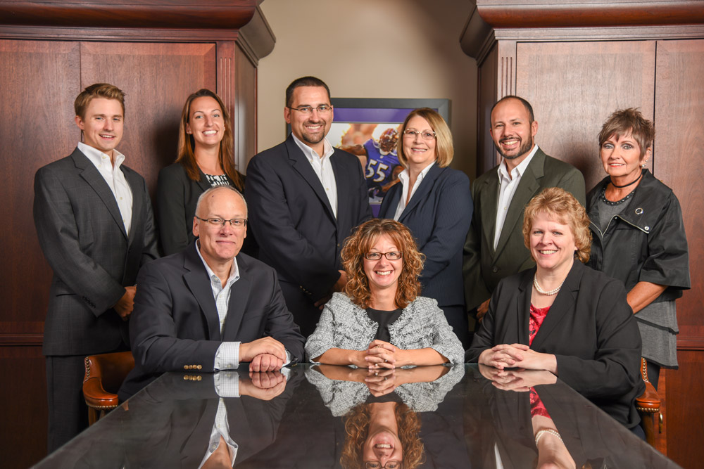 Team photo of the Maryland CPAs and business advisors at Fitzpatrick, Leary & Szarko.