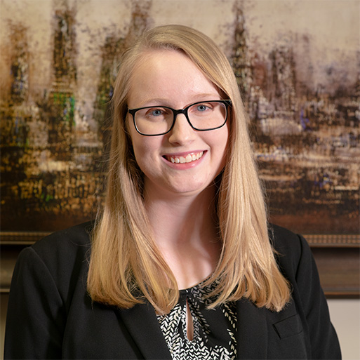 Headshot of Kayla Baker, senior accountant at Fitzpatrick, Leary and Szarko in Baltimore, Maryland.